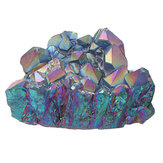 Fioletowy Rainbow Aura Quartz Natural Point Cluster Crystal Crystal Home Decor