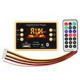 3 stks 12 v bluetooth 5.0 auto mp3 audio decoder board lossless formaat map afspelen fm usb tf-kaart met Colorful scherm afstandsbediening