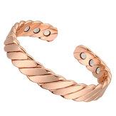 Мода Розовое Золото Магнитный Браслет Неодимовый Магнит Терапия Облегчение Боли Здоровье Уход Медь Браслет