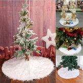 90cm Snow Plush Christmas Tree Skirt Base Floor Mat Cover Christmas Party Decorations