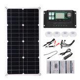 Yarı Esnek Solar Güç Paneli Sistem kiti Solar Panle Type-C USB Çift DC Bağlantı Noktası 5V / 12V / 18V W / Solar Şarj Kontrol Cihazı