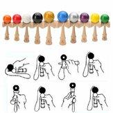 Brinquedo Kendama de Madeira Profissional Sólido Bola de Malabarismo Infantil Jogo Brinquedo de Habilidade