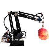 DIY 4DOF Pompa RC Robot Arm Zestaw edukacyjny z metalowym serwomechanizmem cyfrowym