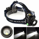 ELFELAND 5-Modes 2500LM T6 Zoomable LED Head Lamp 90° Lighting USB Charging Head Torch Light For Camping Hunting
