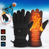 1 Pair Electric Heated Hand Gloves 3 Modes Touchscreen Motorbike Motorcycle Winter Warm Heated Battery Gloves