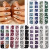 3D Ronde Glitter Strass Bead Wax Picker Potlood Diamant Gems Manicure Nail Art Tool