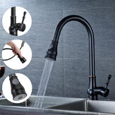 Kitchen Sink Faucet Pull Out Sprayer 360° Rotate Single Handle Mixer Tap Copper
