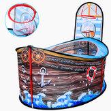 Tenda infantil coberta para bebês com cercadinho infantil Game House Ocean Ball Pool-Pirate Ship Style