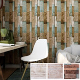 Wooden PVC Floor Tile Sticker Self Adhesive Wallpaper Kitchen Wall Sticker for House Bedroom Living Room DIY Wall Ground Decor