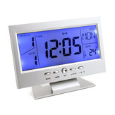 Digital Table Clock Snooze Calendar Temperature Alarm LCD Backlight