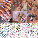 Nail Butterfly Stickers Do Not Fade Waterproof 3D Adhesive Stickers DIY Nail Decals
