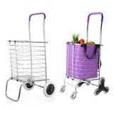 2/8 Wheels Shopping Carts Trolley Aluminium Folding Luggage For Household Cart