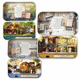 بيت الدمية Cuteroom Old Times Trilogy DIY Box Theatre مع ألعاب الأثاث