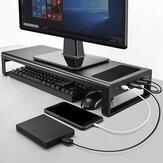 VAYDEER Monitör USB3.0 Hub Destekli Stand Yükseltici Veri Aktarımı ve Şarj Macbook iMac Çelik Masa Düzenleyici