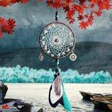 PerleverdiDreamCatcherWindChimes Stile del merletto Piuma Ornamenti ciondolo Handmade Dream Catcher Ciondolo gioielli Auto Decorazione della casa Artigianato Regali