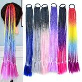 Kepang Kotor Berwarna Halloween Serat Suhu Tinggi Crochet Rambut Kecil Kepang Ekor Kuda Ekstensi Rambut