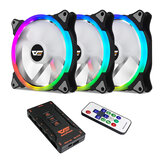 Darkflash CS140 3-in-1 RGB PC Case LED Cooling Fans 140mm Remote Control Computer CPU Cooler Fan Radiator for Computer PC