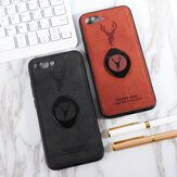Bakeey Happy Deer Ring Holder Bracket TPU+PU Leather Protective Case For Huawei Honor 10