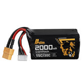 Auline 14.8V 2000mAh 15C/30C 4S 18650 Lipo Battery for Cinewhoop 5inch FPV Racing Drone