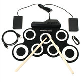 Digital Portable Roll Up E-Drum Kits Pad mit Pedal Drum Sticks