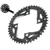 BIKIGHT 44T 9-Gang-Fahrradzahnscheiben-Kettenblattplatte Fahrradkettenring-Kettenblatt für 370 390 430 590 SLX XT