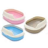 Grand 55 × 38,5 × 20 cm en plastique chat Kitty Pet Bowl litière bac de tamisage WC semi-fermé Pan Scoop Bowl