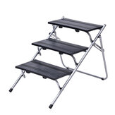 Dog Steps Portable Foldable Three Storys Pet Stair Step Multifunctional Pet Staircase For Cars High Bed