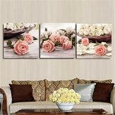 3Pcs Fiori Stampa su tela Dipinti Stampa decorativa da parete Immagini artistiche Decorazioni da appendere a parete senza cornice per Home Office