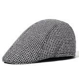 Men's Winter Spring Double-layer Warm Peaked Cap Forward Hat