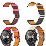 Bakeey 22mm Dual Color Piel Genuina Reemplazo de la correa del reloj Banda para Huawei Honor magic