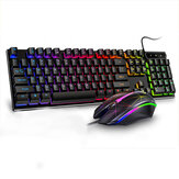 YINDIAO VG46 Wired Mechanical  Keyboard & Mouse Set 104 Keys Gaming Keyboard Ergonomic Mouse Combo Home Office Kit for Laptop Computer PC