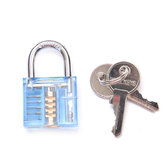 DANIU 5Pins Blue Transparent Pick Cutaway Visable Inside View Padlock Lock for Locksmith Practice Training