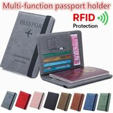 RFID Blocking Travel Multifuncional Slots de cartão Passport Storage Bolsa Wallet