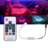 DC5-24V Mini 14 chaves RF Wireless remoto Controller para WS2811 WS2812B 5050 RGB LED Strip Light