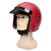 DOT 3/4 Face Motorcycle Motorbike Helmet Scooter Riding Visor ML XL
