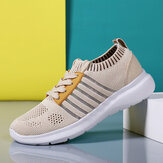 Women Casual Breathable Knitted Lightweight Running Sneakers
