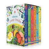 6 livros / conjunto Livro de pintura em inglês Livros de figuras educacionais com abas em 3D Livro de leitura de crianças para bebês para presentes infantis