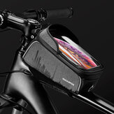 ROCKBROS 1L Bike Phone Front Frame Bag 4.7-6.5inch Phone Mount Pack Waterproof Front Frame Bag Touch Screen Case Bicycle Cycling