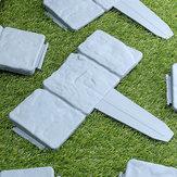 20Pcs Κήπος Φράχτη Edging Cobbled Stone Effect Πλαστικό Διακοσμήσεις Φυτών