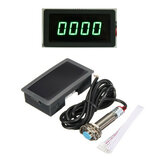 4 Digital Hijau LED Tachometer RPM Speed Meter + Proximity Switch Sensor NPN