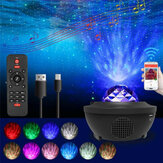 Music Starry Projector Lamp bluetooth Speaker LED Night Light for Party Room Decoration+Remote Control