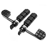 Motorcycle Anti-Vibe Foot Peg With Heel Rest For Harley FXWG FXR Black