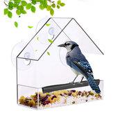 Plastik Şeffaf Kuş Vahşi Muhabbet Kuşu Bahçe Yard Dekorasyon için Asılı Besleme Parçalar