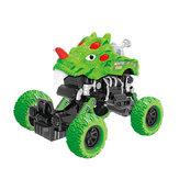 ديناصور أخضر التراجع ألعاب السيارات البلاستيكية لعب الأطفال في الأماكن المغلقة