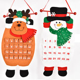 Christmas Countdown Kalender Sneeuwman Herten Hangende Advent Kalender Decoraties Home Decor