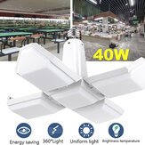 AC85-265V E27 40W Folding Four-Leaf LED Lamp Household Deformation Uniform Bulb Indoor Lighting