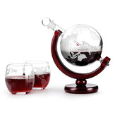 Elegant 850mL World Globe Decanter Alcohol Liquid Glasses Crystal White Glass Earth Cups
