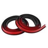 2PCS 1.5M × 2CM Kauçuk Araba Çamurluk Trim Şeridi Tekerlek Kemer Koruma Pervazları Siyah