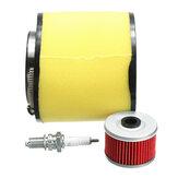 Filtro de aire Filtro de aceite Kit de bujía de encendido para Honda Fourtrax 300 2x4 y 4x4 TRX300 / FW