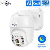 Hiseeu H.265 1080P POE PTZ IP Camera 4X Digital ZOOM 2MP CCTV IP Camera ONVIF for POE NVR System Waterproof Outdoor 48V